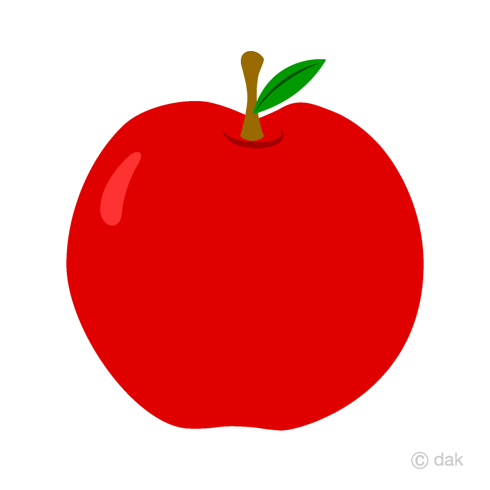 vector freeuse stock Simple apple free picture. Red clipart
