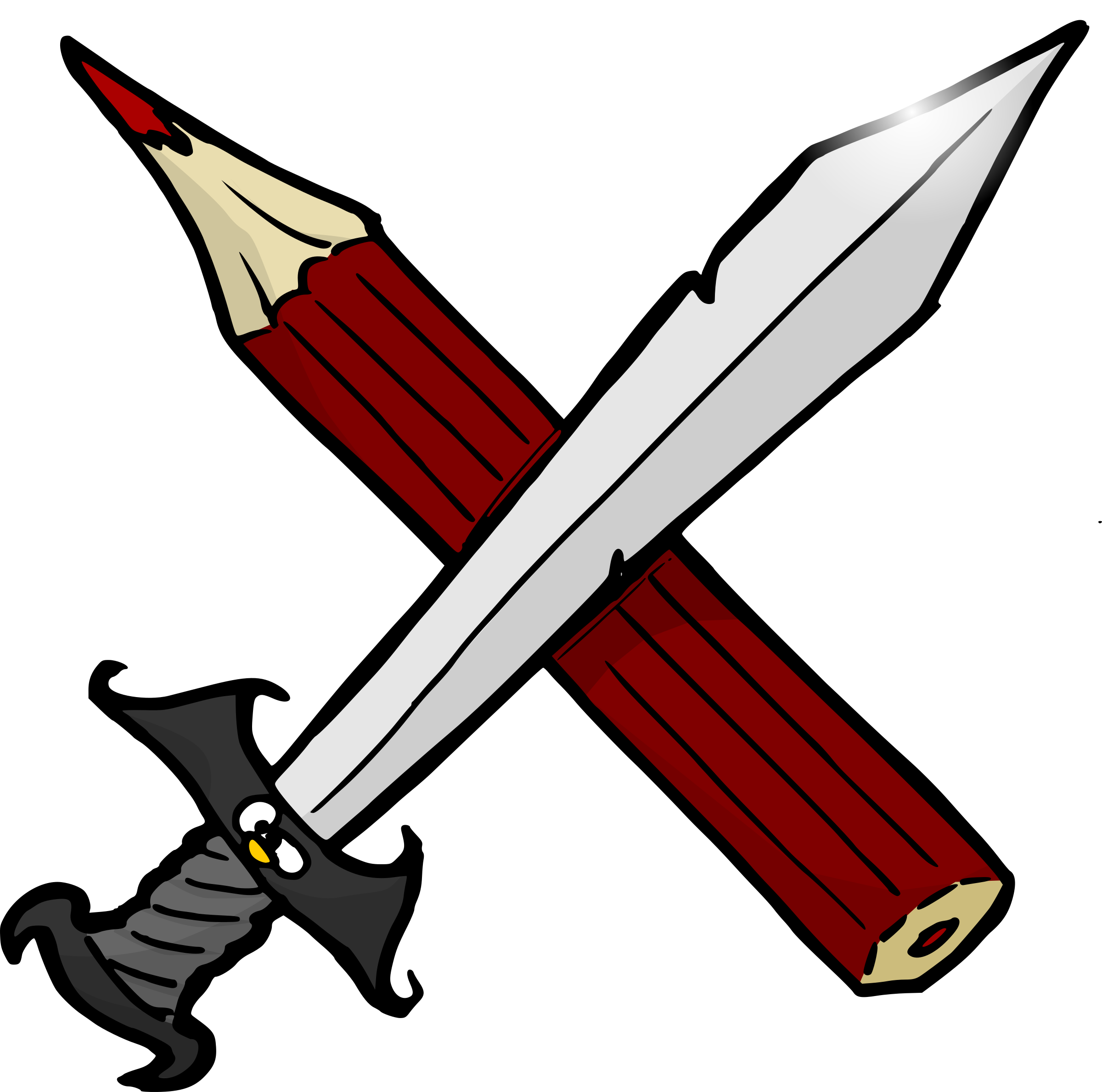 png transparent download Sword and big image. Writer clipart pencil.