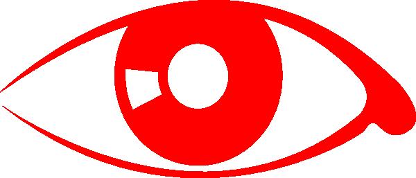 vector Red Eye Clip Art at Clker