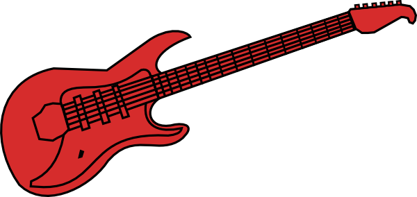 clip free Red Guitar Clip Art at Clker