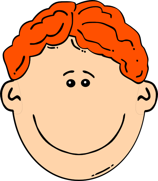 graphic black and white download Smiling Red Head Boy Clip Art at Clker