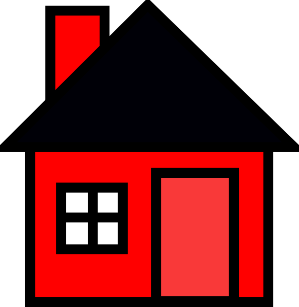 jpg black and white stock Mansion clipart animated. Red house clip art