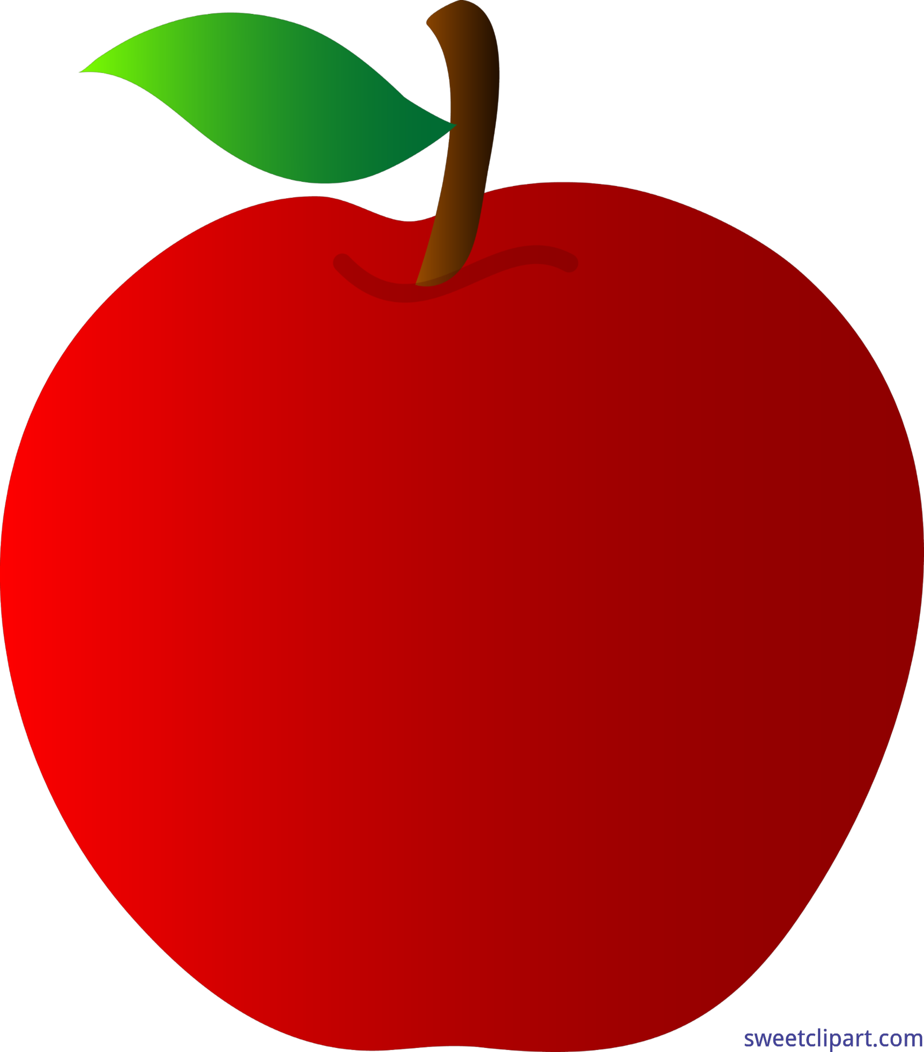 clipart free stock Apple Red