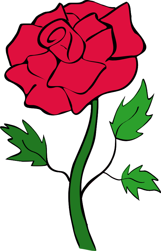 clip free library Roses red rose outline clipart free clipart images