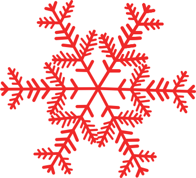 banner library library Red Snowflake Clipart