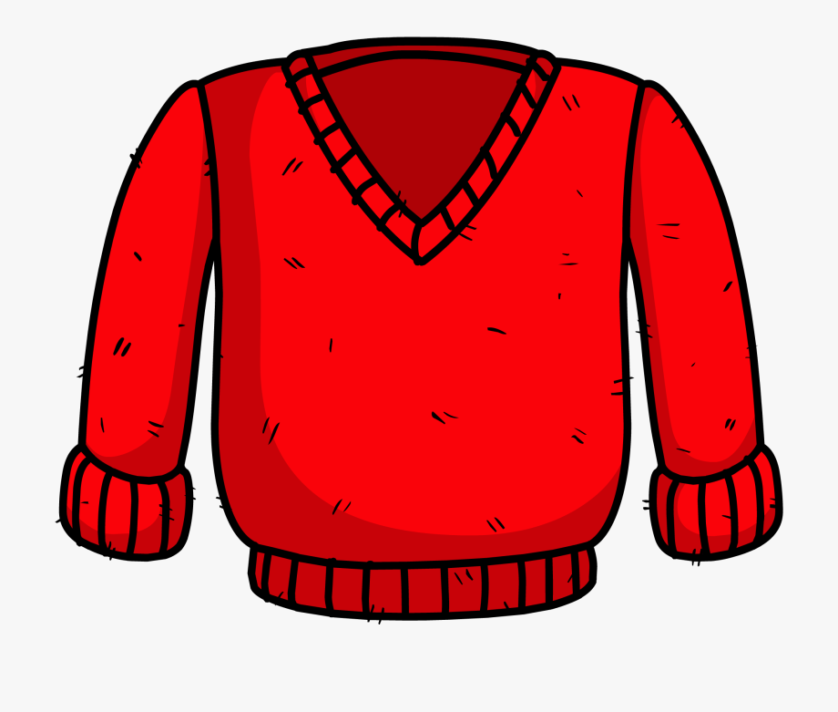 vector download Jacket cardigan cliparts . Red sweater clipart