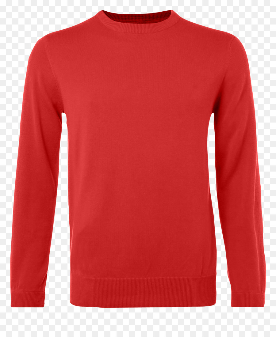 png download Red sweater clipart. Background tshirt jumper clothing