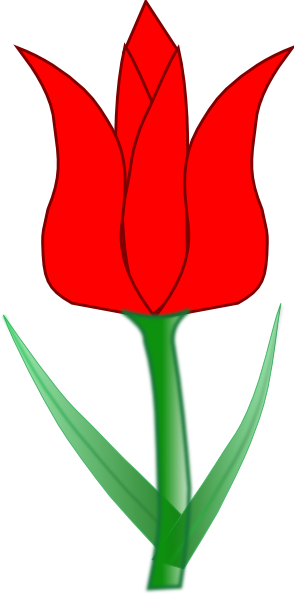 banner transparent library Red tulip clip art