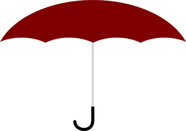 banner black and white library Red Umbrella Clip Art at Clker