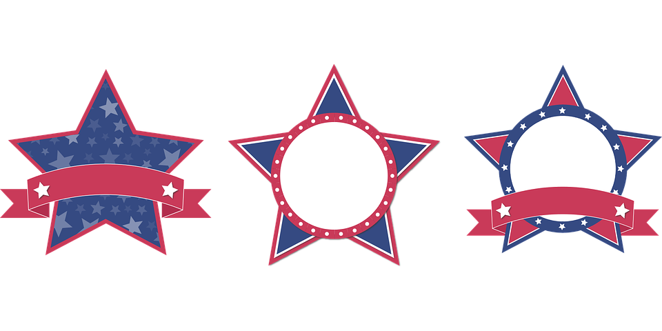 royalty free download Red White And Blue Star PNG Transparent Red White And Blue Star