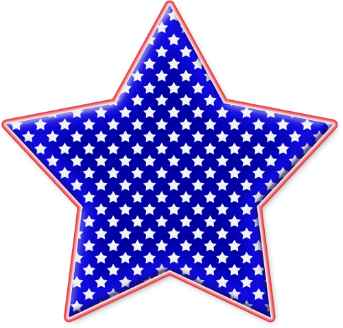 picture free library Star Red White And Blue Png Clipart by clipartcotttage on DeviantArt