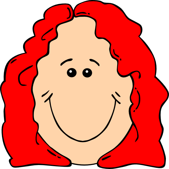 vector free Red Hair Female Cartoon Face Clip Art at Clker