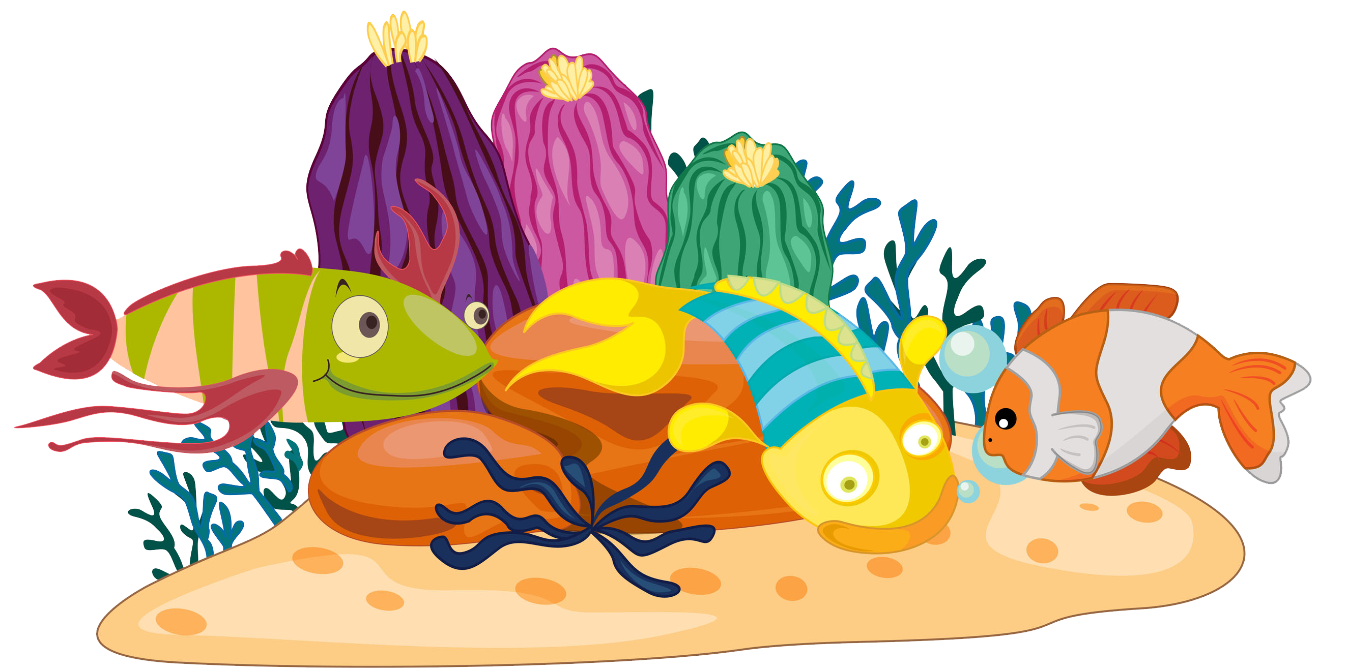 png library Reef clipart. Coral fish clip art.