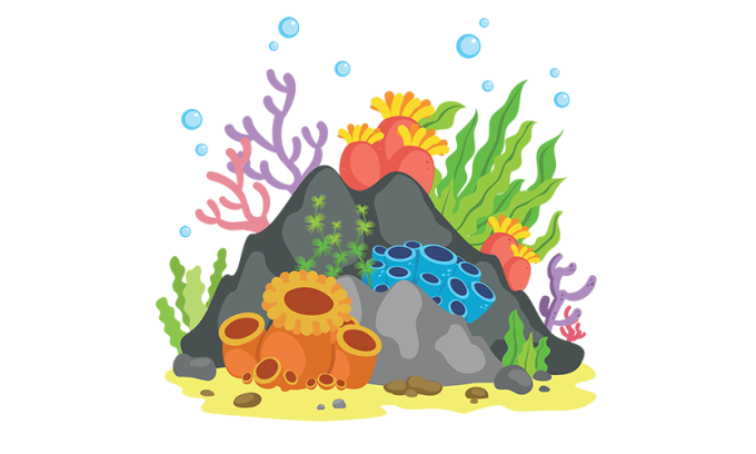 graphic free Reef clipart. Rock coral free on.