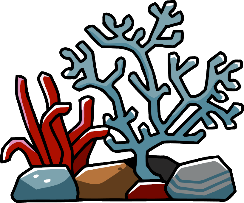 clipart black and white coral reef clipart #61639030