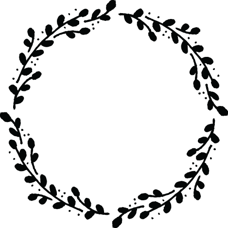 svg royalty free stock Drawn wreath black and white