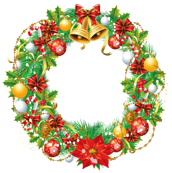 clipart freeuse stock Transparent Christmas Wreath PNG Clipart Picture