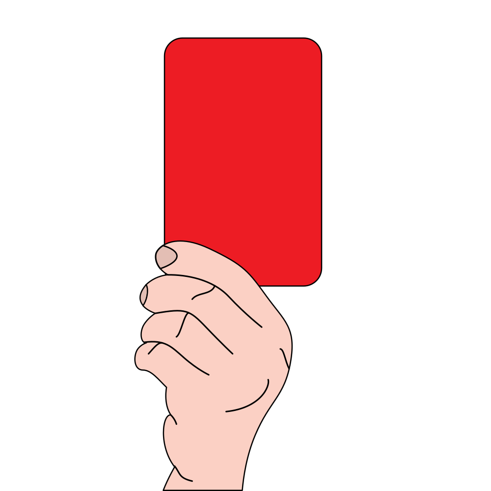 clip art free stock File with red card. Referee clipart.