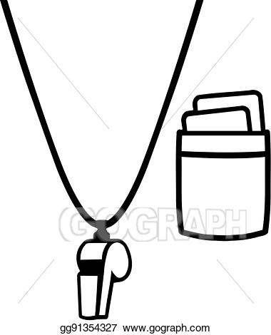 png royalty free download Referee whistle clipart. Eps vector shirt with