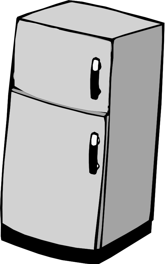 vector freeuse Fridge clipart sketches. Refrigerator panda free images.