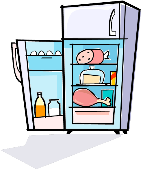 png royalty free library  collection of transparent. Refrigerator clipart.