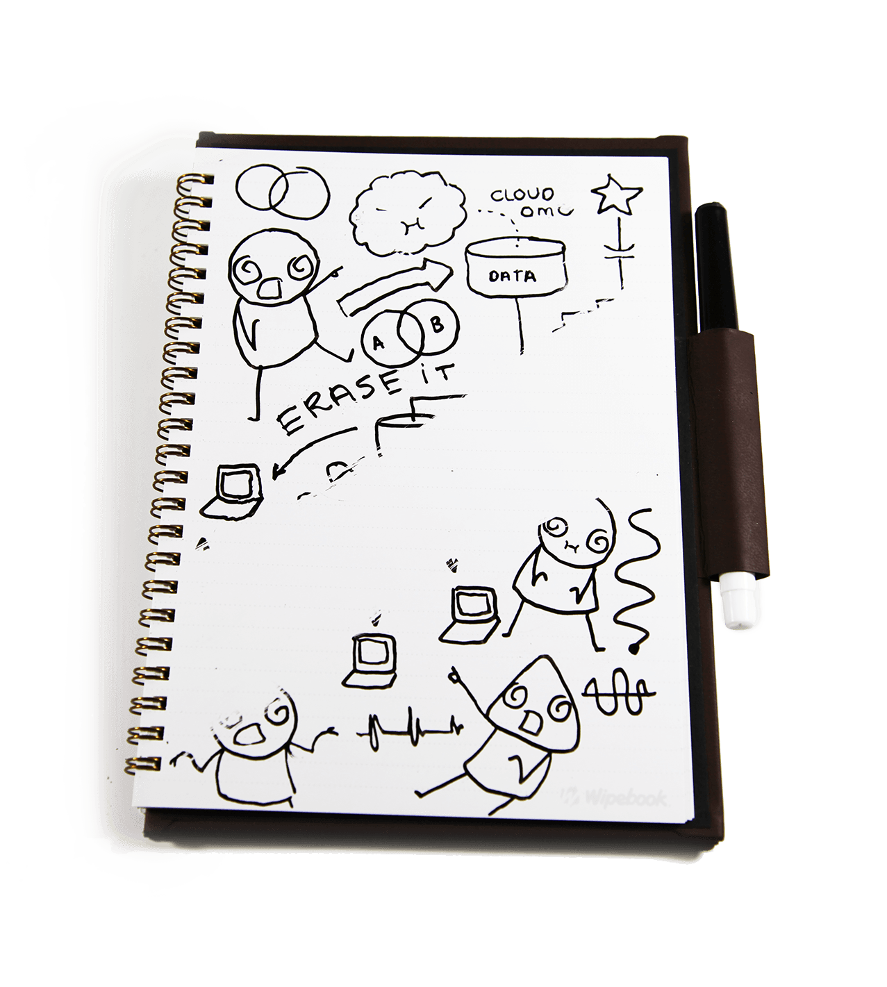 picture stock Drawing randomizer notebook. Mini wipebook pro prolist