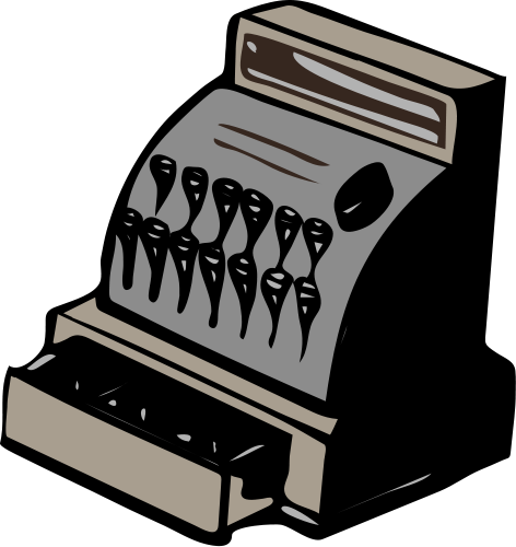 graphic black and white Pos Register Clipart