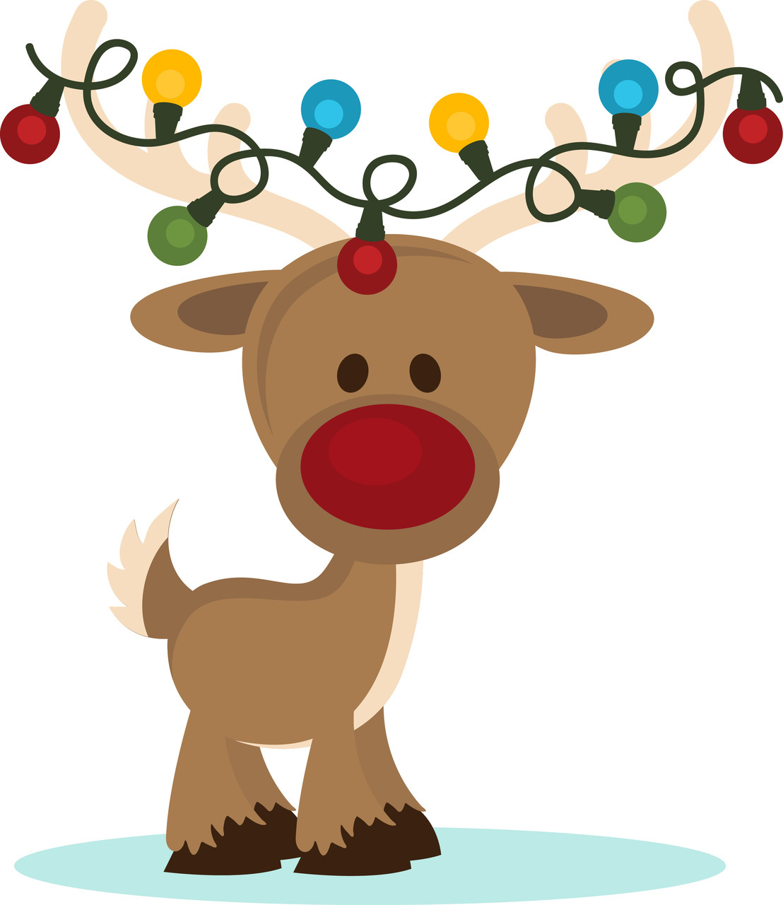 picture black and white Free funny cliparts download. Goofy clipart reindeer