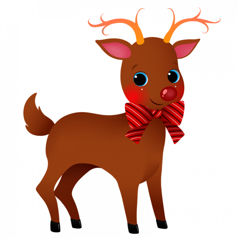 vector royalty free stock Cute christmas happy new. Reindeer clipart.