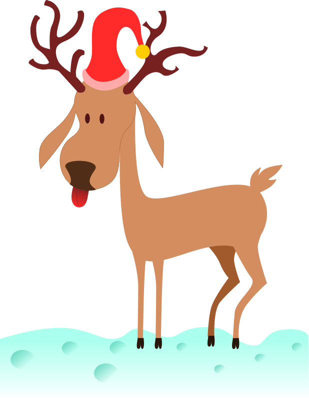 jpg black and white stock Free christmas graphics rudolphs. Reindeer clipart.