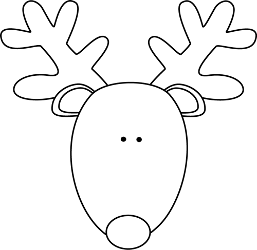 jpg library download Head png pixels rug. Reindeer clipart black and white