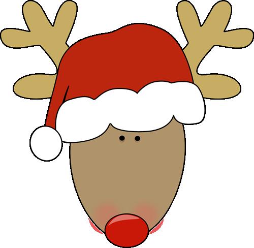 clip royalty free stock Reindeer wearing a santa hat