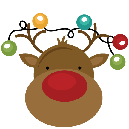 svg royalty free Rudolph Reindeer Clipart at GetDrawings