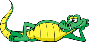 png free download Relax clipart. Alligator relaxing clip art