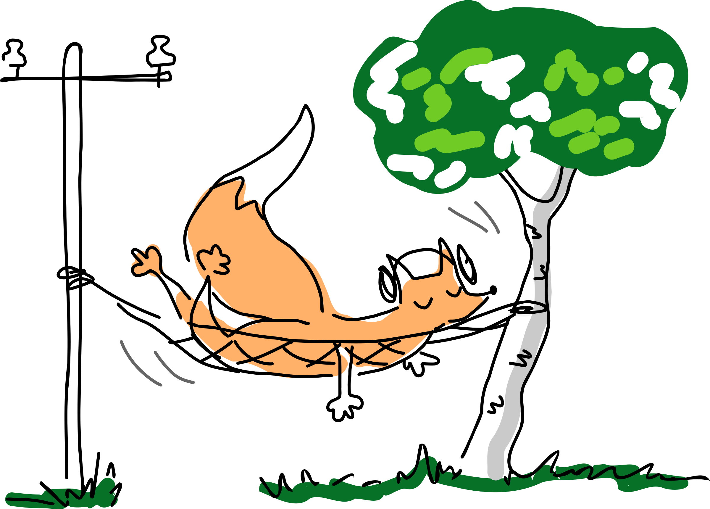 free library Fox relaxed big image. Relax clipart