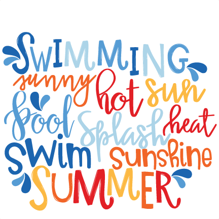 banner free Summer Word Art SVG scrapbook cut file cute clipart files for