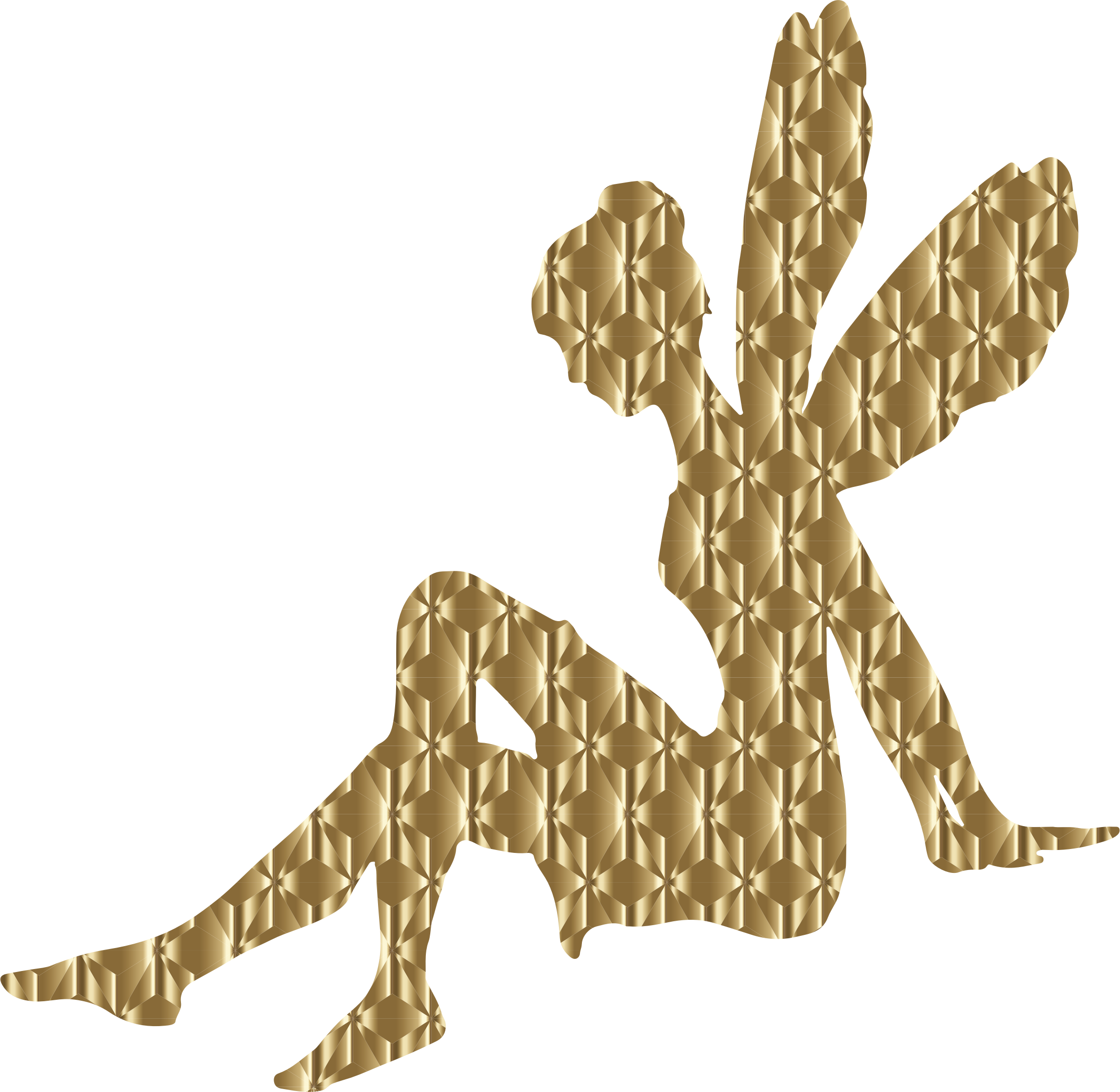 picture freeuse Golden foil female fairy. Relaxing clipart.