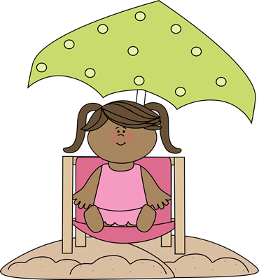 clip transparent library Girl on the beach. Relaxing clipart relaxed woman