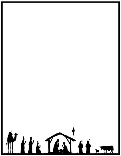 picture Free border clip art. Religious christmas clipart borders
