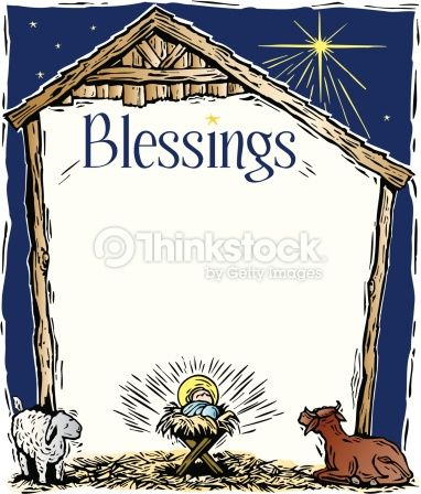 graphic freeuse download Border heading blessings a. Religious christmas clipart borders
