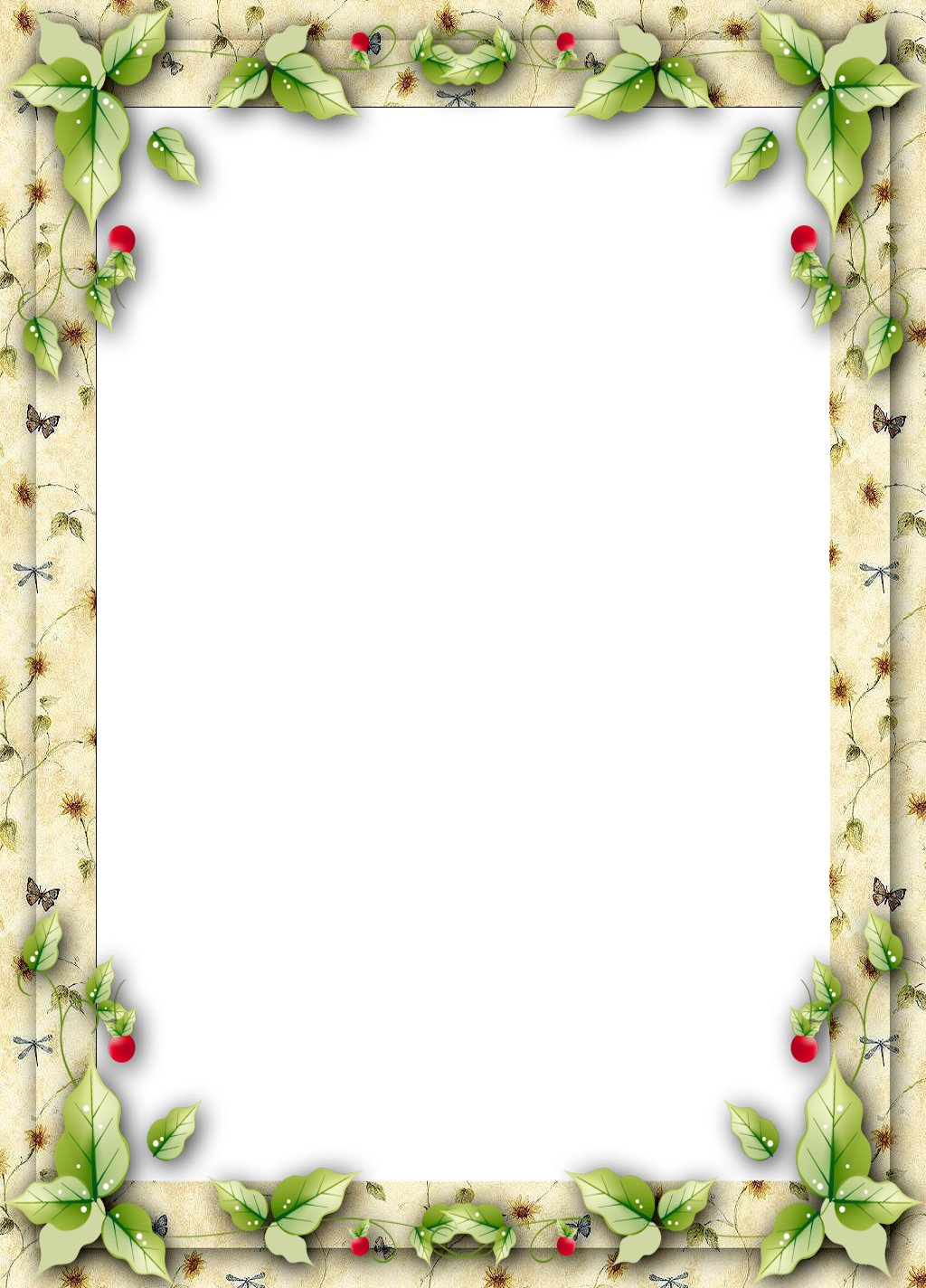 clip art free stock Christmas clipart page borders. Frame with mistletoe leaves.