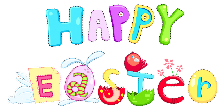 png black and white library religious happy easter clipart #62551179