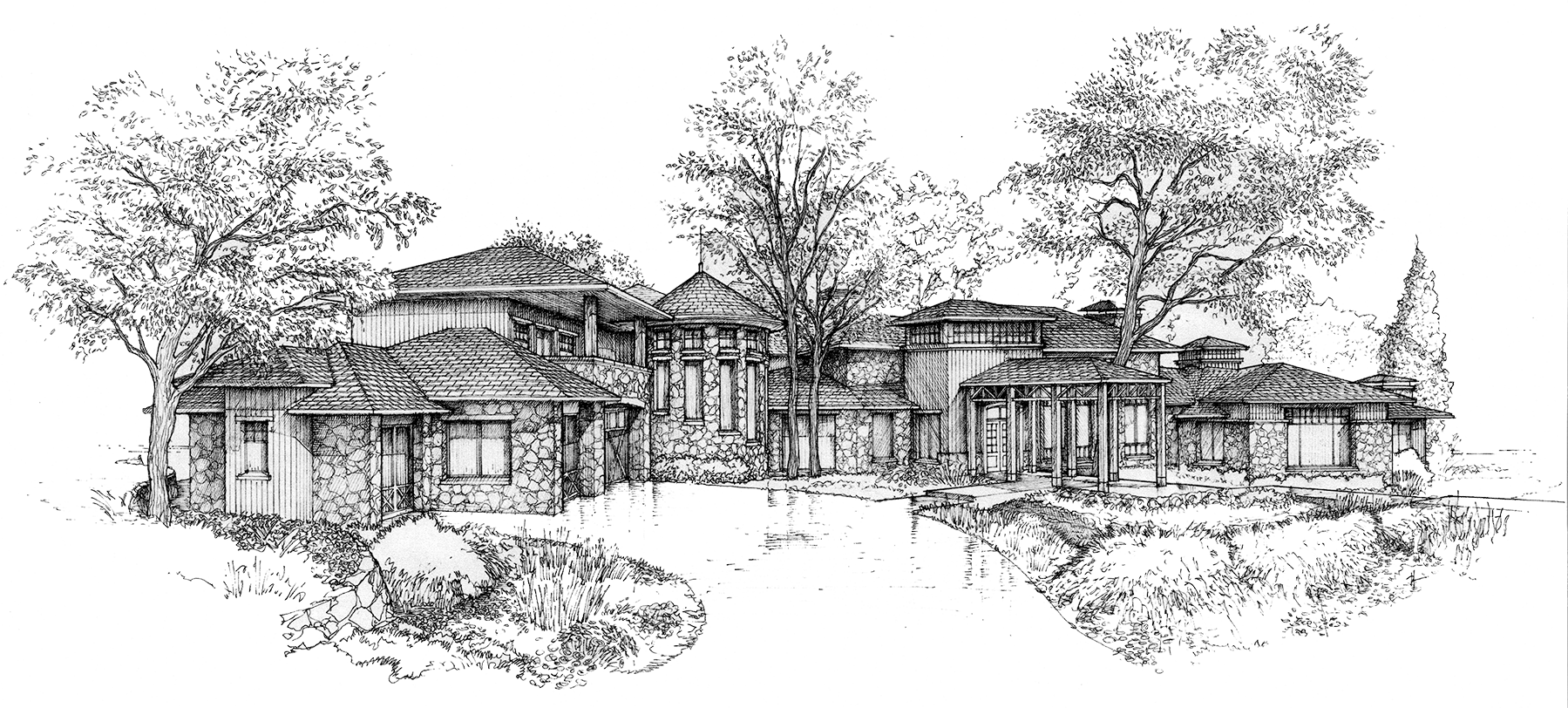 clipart library library Rendering drawing. Highlands mabry custom homes