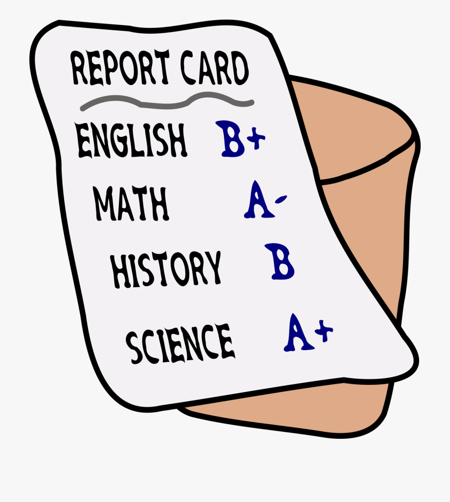 graphic library Report clipart grade card. Cards free cliparts on