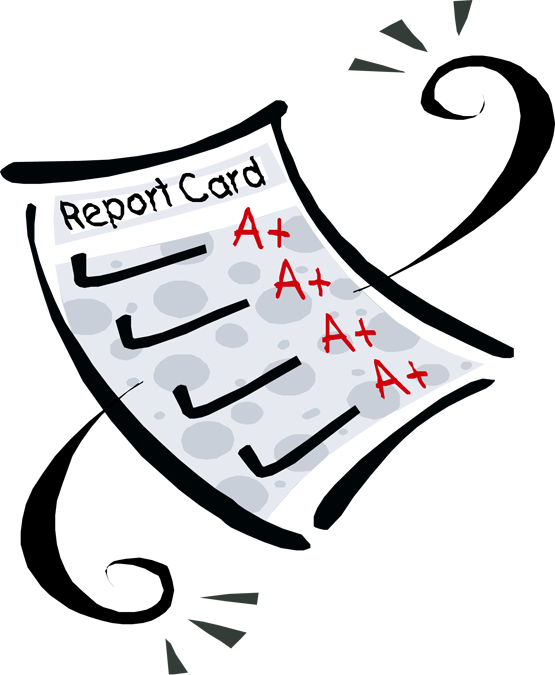svg royalty free library Report clipart grade card. And gpa evil eagles