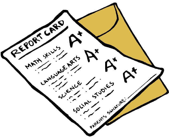 image freeuse Free school cliparts download. Report clipart grade card