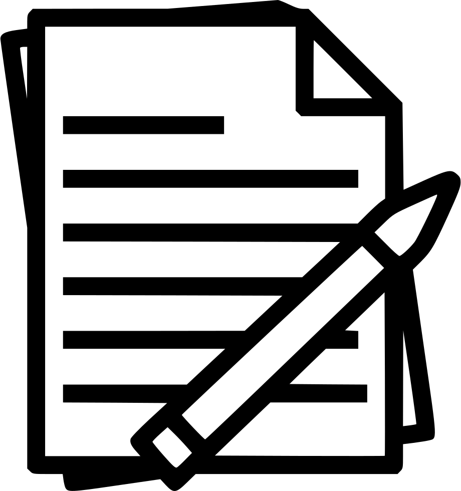 svg stock Report clipart pencil. Notes pen and paper