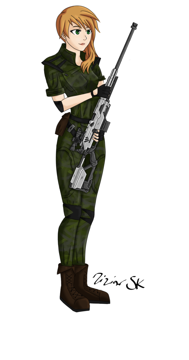 freeuse stock Chicks drawing military. Sniper girl anime by