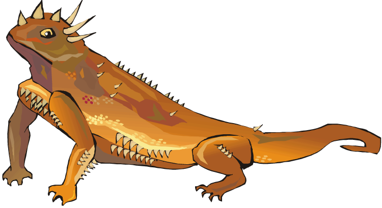 png black and white library Reptile clipart. Free lizard spikey.