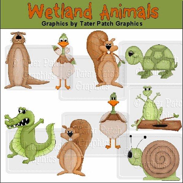 image stock Reptile clipart swamp bird. Wetland animals graphics